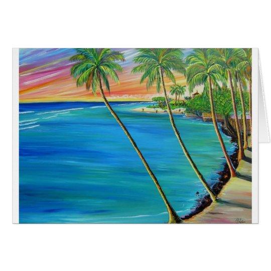 Lahaina view of baby beach card