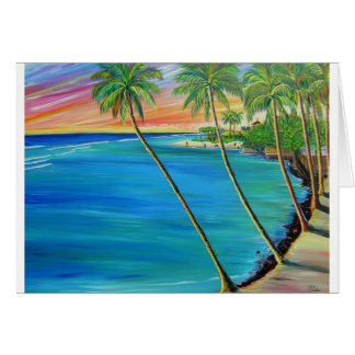 Lahaina view of baby beach greeting card
