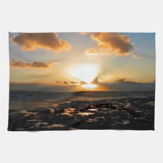 Lahinch, Ireland Sunset Tea Towel