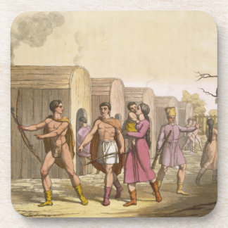 Lahoutan Indians, Canada (colour engraving) Coaster