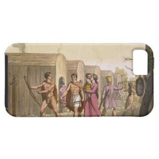 Lahoutan Indians, Canada (colour engraving) iPhone 5 Covers