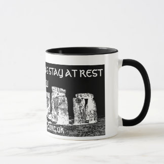 LAID TO REST MEANS STAY AT REST MUG