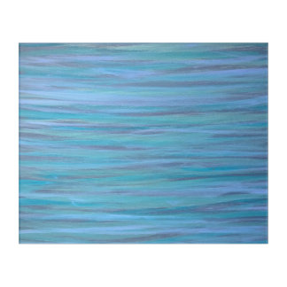 Laidback Abstract | Turquoise Blue Aqua Original Acrylic Wall Art