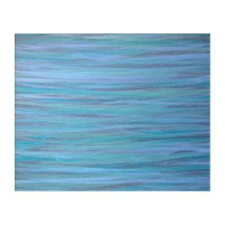 Laidback Original Handpainted Blue Stripe Abstract Acrylic Wall Art