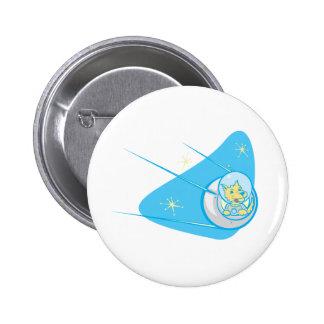 Laika in a Sputnik 6 Cm Round Badge