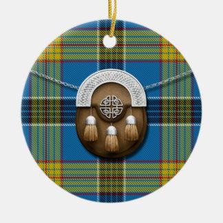 Laing Tartan And Sporran Christmas Ornament