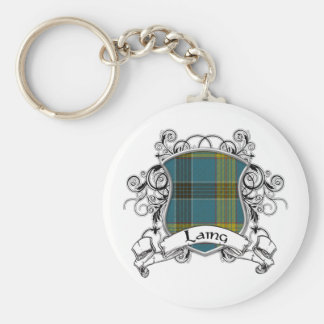 Laing Tartan Shield Key Ring