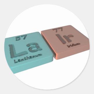 Lair as La Lanthanum and Ir Iridium Round Sticker