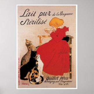 Lait Pur De La Uingeanne Vintage Drink Ad Art Poster