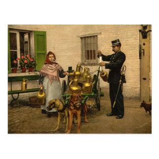 Laitiere Bruxelloise Postcard