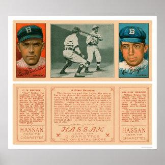 Lajoie At Bat Brooklyn Baseball 1912 Poster