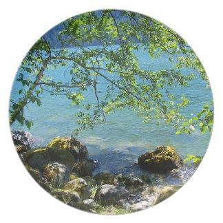 Lake 2 dinner plate