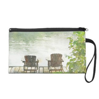 Lake Afternoon Wristlet Clutches