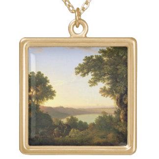 Lake Albano, Italy, 1777 (oil on canvas) Custom Jewelry