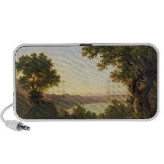 Lake Albano, Italy, 1777 (oil on canvas) iPod Speaker
