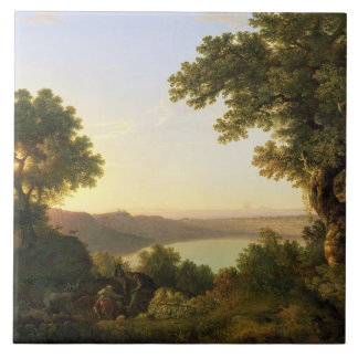Lake Albano, Italy, 1777 (oil on canvas) Tile