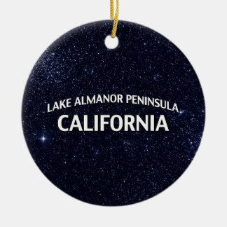 Lake Almanor Peninsula California Christmas Ornament
