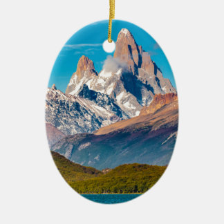 Lake and Andes Mountains, Patagonia - Argentina Christmas Ornament