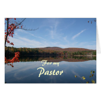Lake and Hills Fall Pastor Appreciation Card