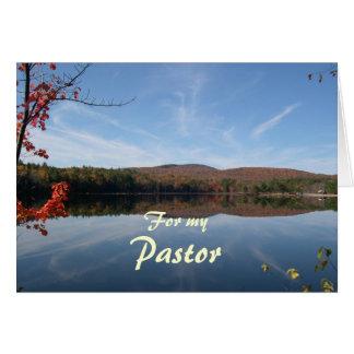 Lake and Hills Fall Pastor Appreciation Greeting Card