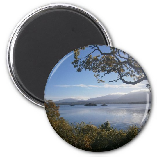 lake and trees.JPG 6 Cm Round Magnet