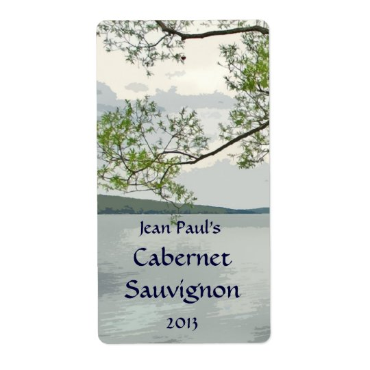 Lake and Willow Wine Label Shipping Label