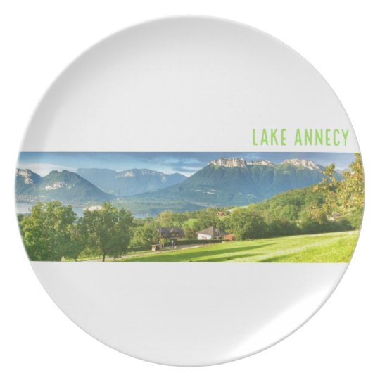 Lake Annecy Melamine Plate