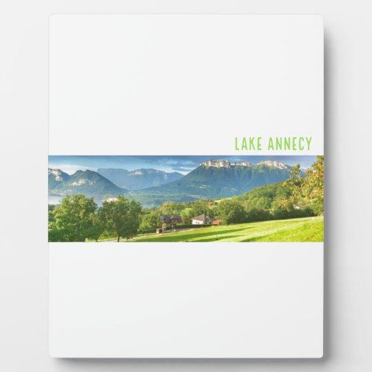 Lake Annecy Plaque with Easel