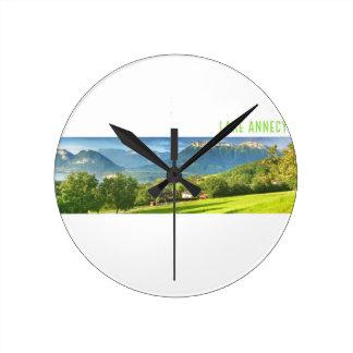 Lake Annecy Round Clock