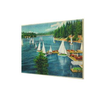 Lake Arrowhead, CA Yacht Club Racing Gallery Wrap Canvas