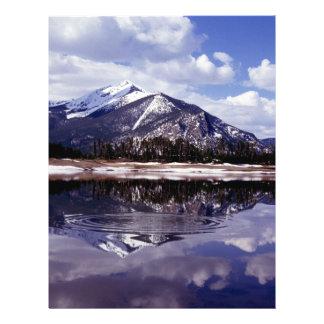 Lake at Rocky Mountains Colorado Flyer Design