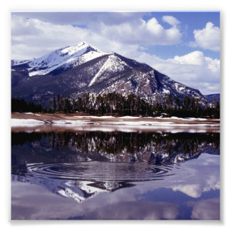 Lake at Rocky Mountains Colorado Art Photo