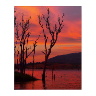Lake Awoonga sunset acrylic wall art