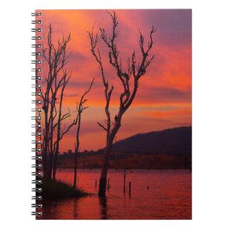 Lake Awoonga sunset notebook