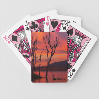 Lake Awoonga sunset playing cards