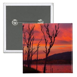 Lake Awoonga sunset square badge