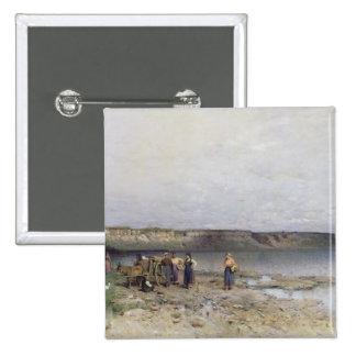 Lake Balaton with the Shore of Akarattya, 1885 15 Cm Square Badge