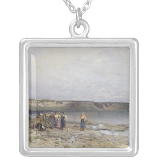 Lake Balaton with the Shore of Akarattya 1885 Custom Necklace