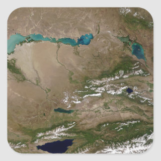 Lake Balkhash in eastern Kazakhstan Square Sticker