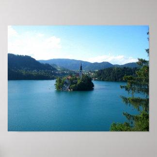 Lake Bled Island Slovenia Poster