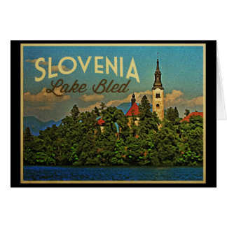 Lake Bled Slovenia Card