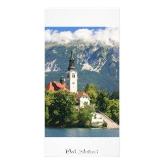 Lake Bled Slovenia Customized Photo Card