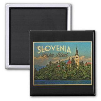 Lake Bled Slovenia Square Magnet
