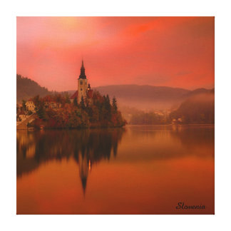 Lake Bled Sunset | Natural Beauty of Slovenia Canvas Print