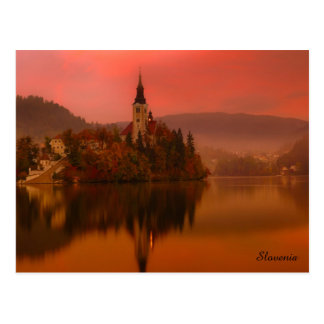 Lake Bled Sunset | Natural Beauty of Slovenia Postcard