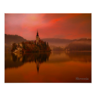 Lake Bled Sunset | Natural Beauty of Slovenia Poster