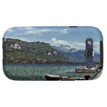 Lake Boats and Mountains in Annecy France Galaxy S3 Cases