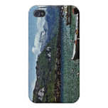 Lake Boats and Mountains in Annecy France Cases For iPhone 4