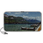 Lake Boats and Mountains in Annecy France Travelling Speaker