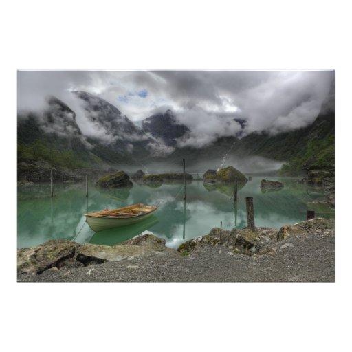 Lake Bondhus Norway Art Photo